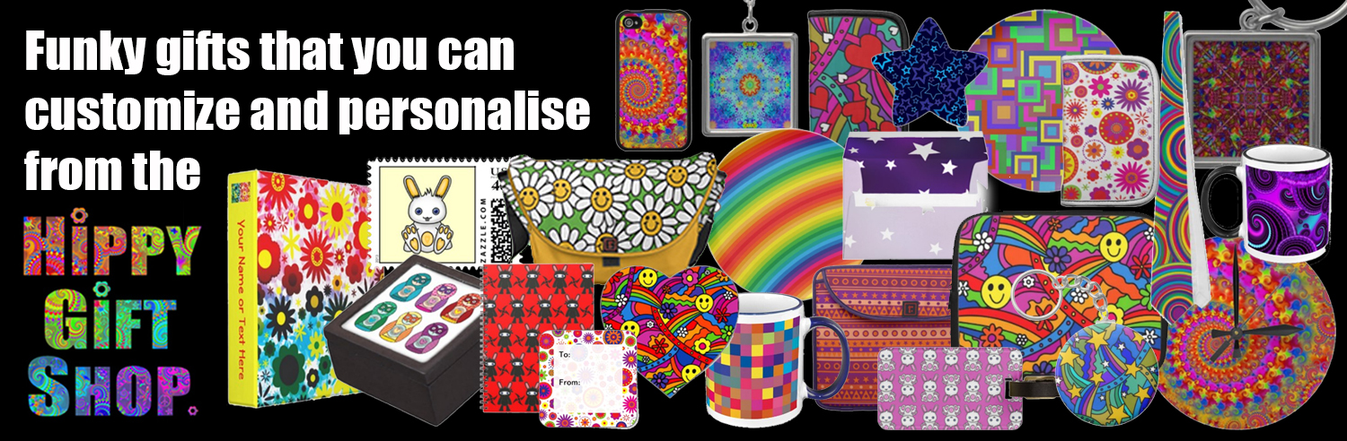 Hippy Gift Shop Psychedelic Hippie Gifts Funky retro gifts with ...
