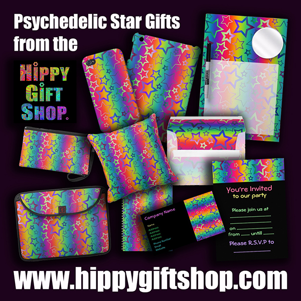 psychedelic rainbow stars gifts