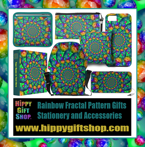 Rainbow fractal Picture Gifts